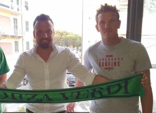 Fabio Lorieri, a destra, con mister Fasano