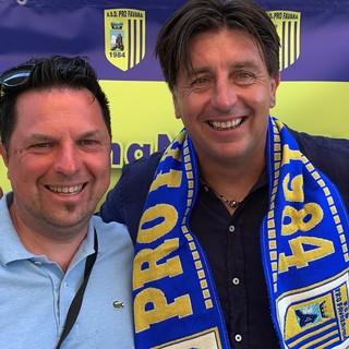 Luca Cavallo con il nostro direttore Paolo Dellepiane