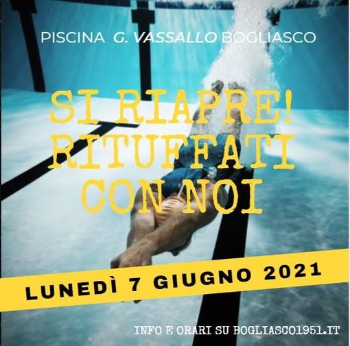 COMUNICATO STAMPA: Lunedì riapre la piscina di Bogliasco