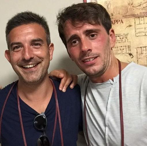 D'Angelo con Mirko Pastorino