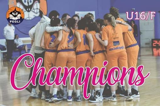 BASKET Under 16  prime in Liguria. Quarto titolo per il gruppo 2003-2004 Basket Pegli