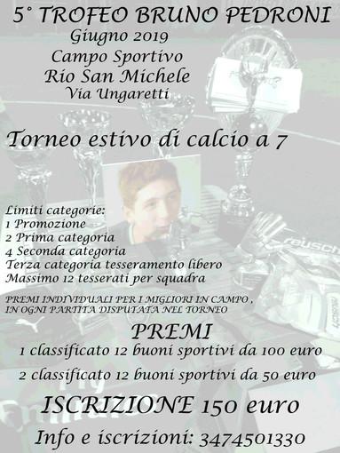 5° Trofeo Bruno Pedroni, ultimi posti disponibili