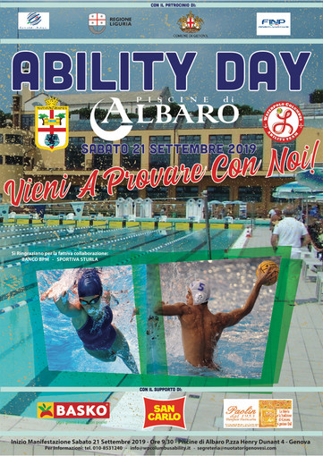 Open day disabili alle Piscine di Albaro