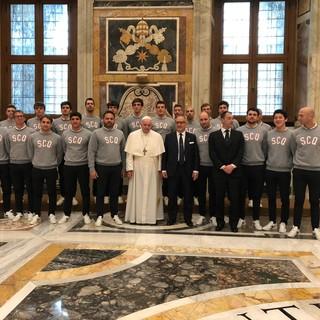 """PALLANUOTO Papa Francesco all' Iren Quinto: """"Non dimenticate spirito di squadra e passione"""""""