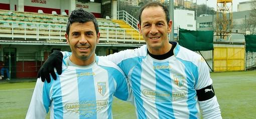 Sannino con Sandro Cappai