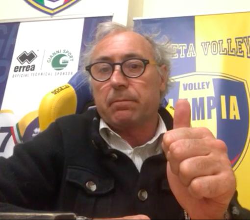 """VOLLEY Olympia-Serteco Videomessaggio di Giorgio Parodi: """"Stiamo a casa e ci ritroveremo al più presto in palestra"""""""