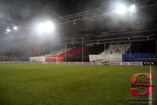 FOTO-TIFO I sampdoriani al derby
