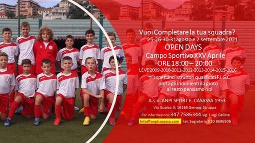 ANPI CASASSA Gli Open Day delle leve giovanili
