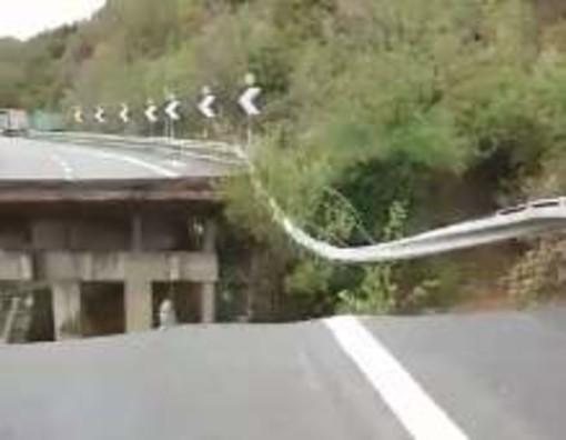 EMERGENZA MALTEMPO Crolla un tratto della A6 fra Savona e Altare