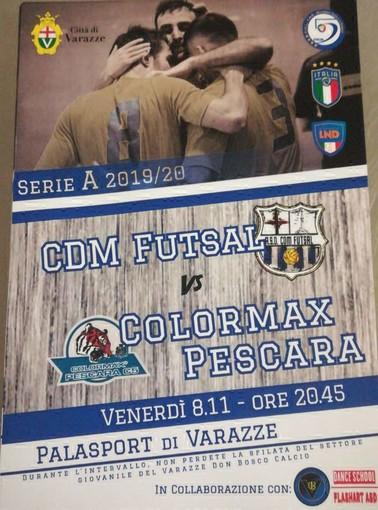 CALCIO A 5 Venerdi sera a Varazze il CDM ospita il Pescara
