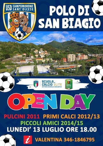 CAMPOMORONE L'Open Day del Polo San Biagio
