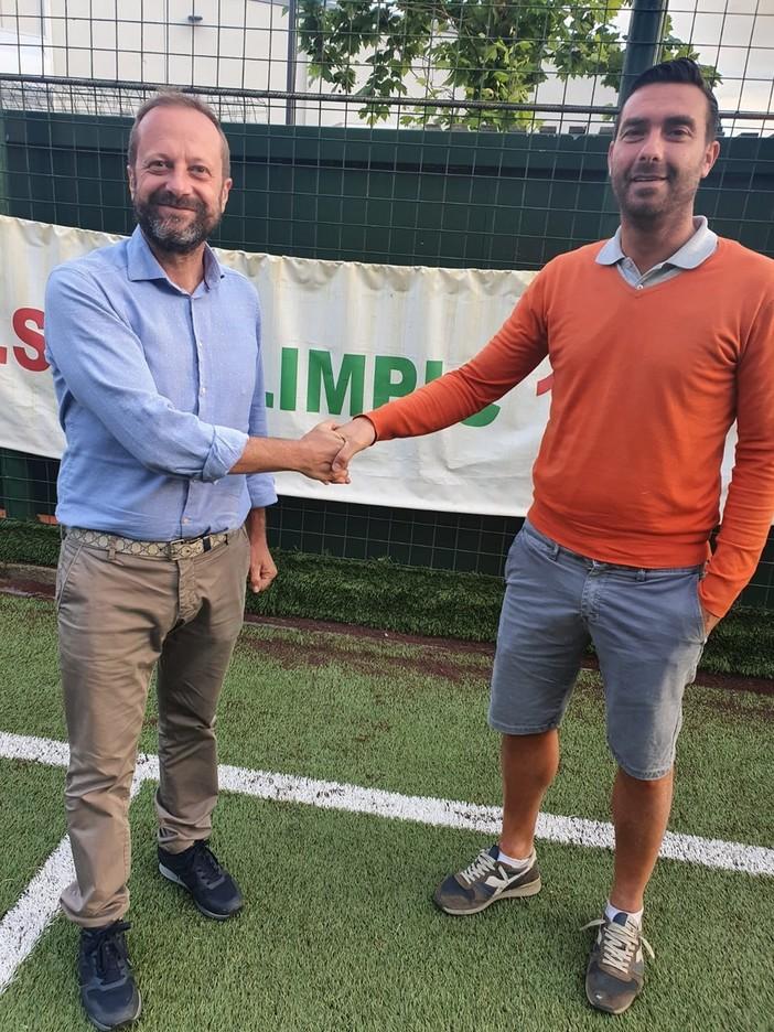 Diego Fazio col presidente Camino