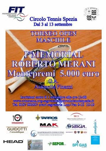 """Tennis - Memorial """"Roberto Merani"""" a Settembre al Circolo Spezia"""
