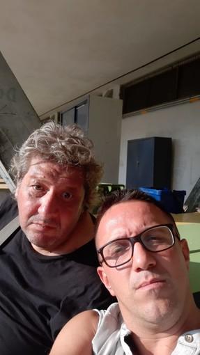 Il ds del Borzoli Fioretti col nostro inviato coach Martini