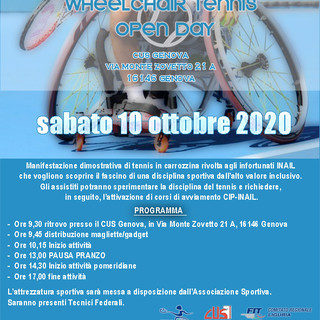 WHEELCHAIR TENNIS OPEN DAY - Genova, 10 ottobre 2020