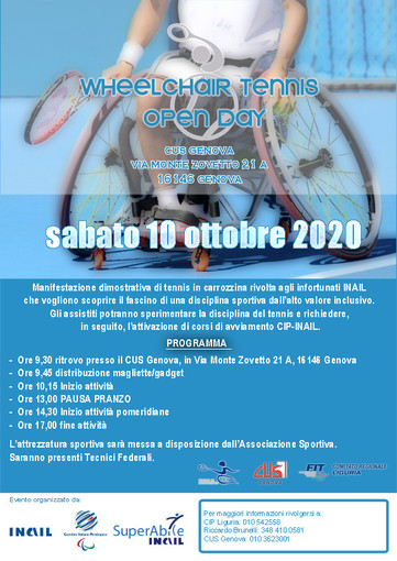 WHEELCHAIR TENNIS OPEN DAY - Genova, 10 ottobre 2020