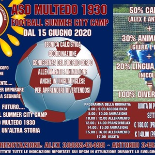 MULTEDO Ecco il Football Summer City Camp