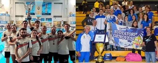 I Master della Nuotatori Genovesi vincono lo Scudetto dei Tuffi e il Campionato Regionale di Nuoto
