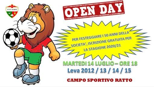 OLIMPIC 1971 Gli open day delle leve 12/13/14/15 il giorno martedi 14 luglio