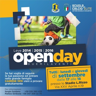 CAIRESE Gli Open Day