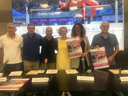 Presentato in Regione Liguria il 31°  Meeting Arcobaleno AtleticaEuropa di Celle Ligure