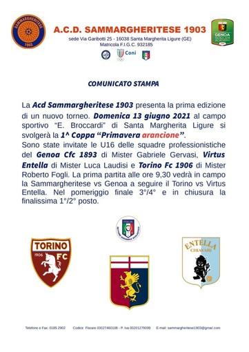 SAMMARGHERITESE: Prima Coppa Primavera Arancione Under 16