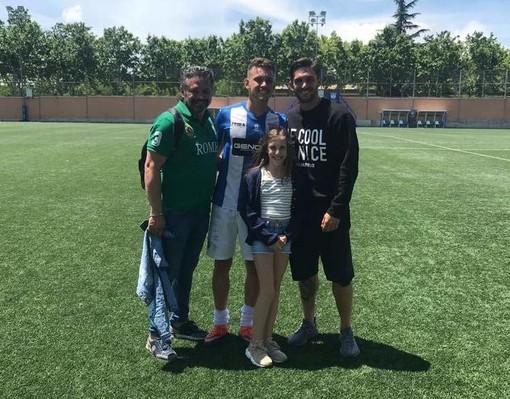 Lirio Torregrossa con i figli Raul ed Ernesto
