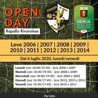 RAPALLO RIVAROLESE Gli open day al Torbella