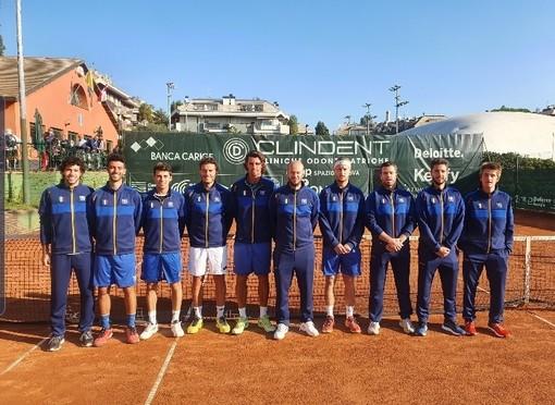 Pari interno in rimonta per il Park Tennis Genova all'esordio in A1 maschile con TC Pistoia