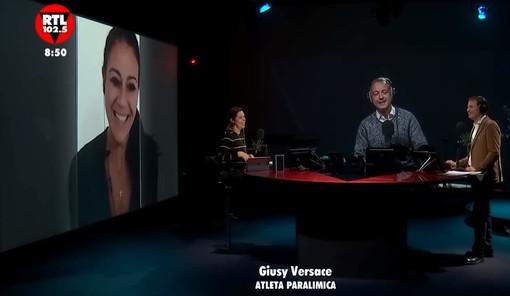 """GIUSY VERSACE A RTL 102.5 """"Bisogna buttare giùle barriere culturali. Soprattutto l'ignoranza, la peggiore di tutte"""""""