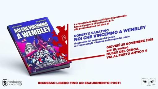 """LIBRI Giovedì al Museo del Genoa la presentazione di """"Noi che vincemmo a Wembley"""""""